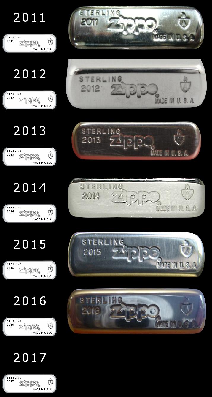 Datation - [Datation] Les Zippo Sterling Silver 2011-2017-523ebec