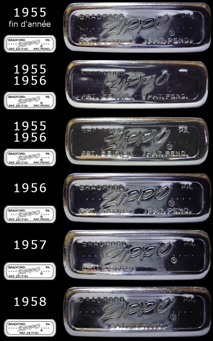 Datation - [Datation] Les Zippo Regular Regular-1955-1958-5266f2b