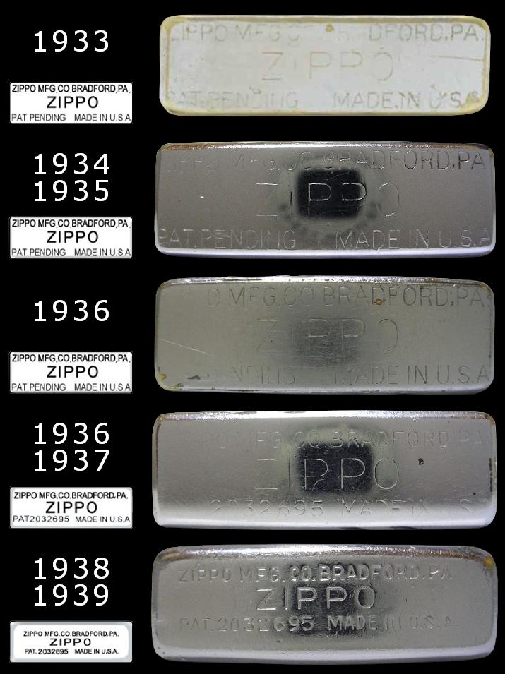 Datation - [Datation] Les Zippo Regular Regular-1933-1939-5266d0b