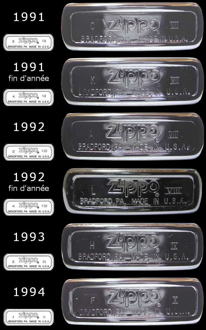 Datation - [Datation] Les Zippo Regular Regular-1991-1994-5267017