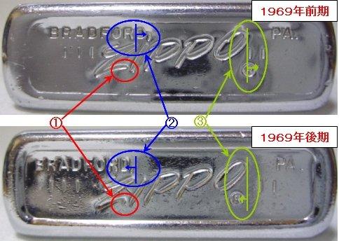 Datation - [Datation] Les Zippo Regular Comparaison-1969-5266f62