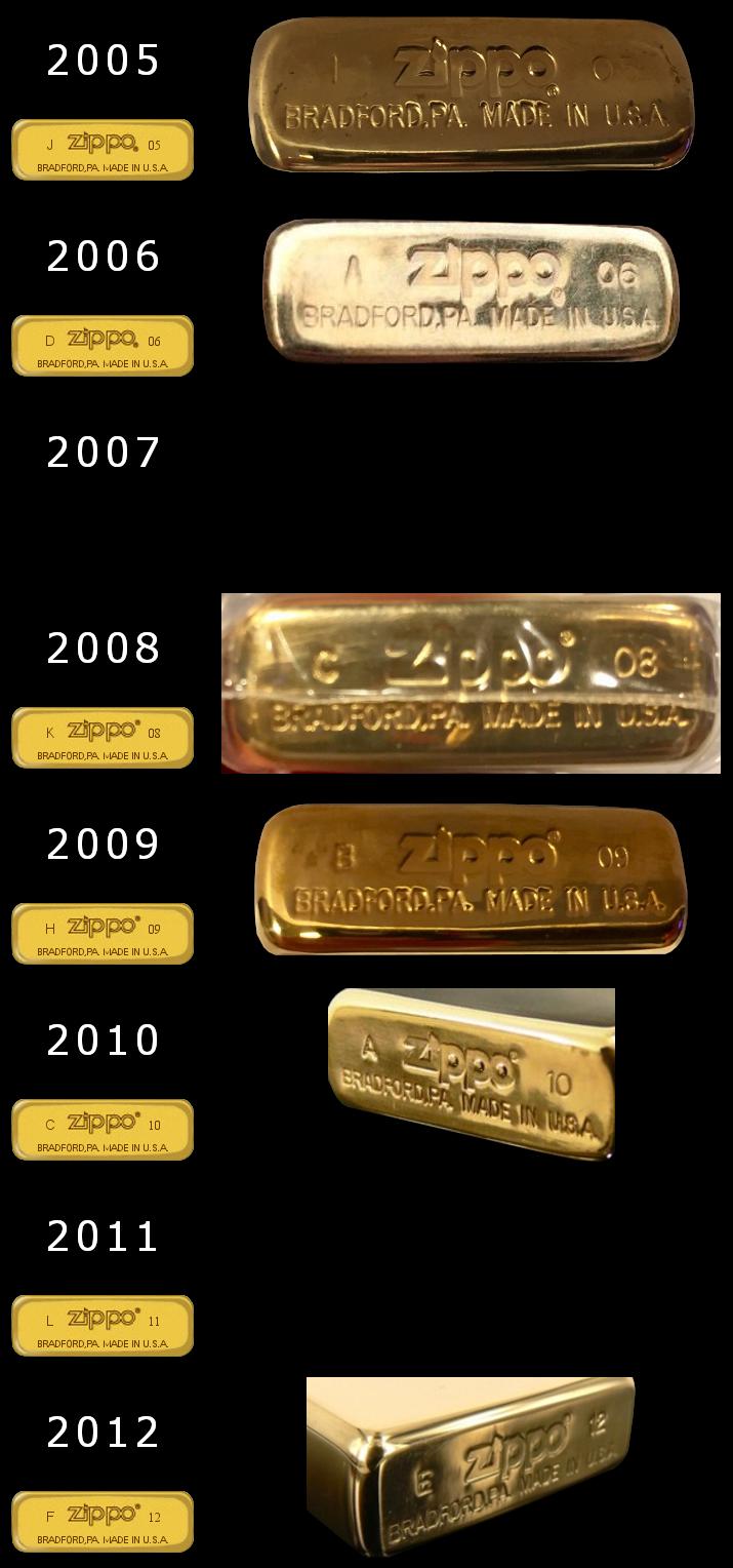 Datation - [Datation] Les Zippo Solid Brass Slim-2005-2012-524ba16