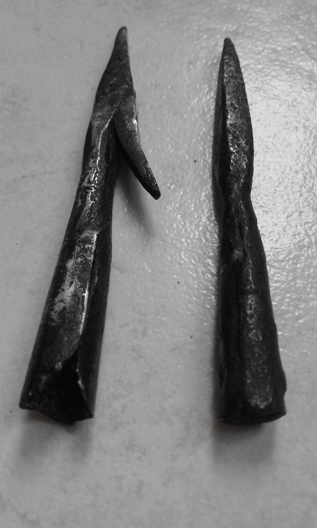 Pointes de flèches de la bataille de Castillon (1453). 20160810_151116-501cf49