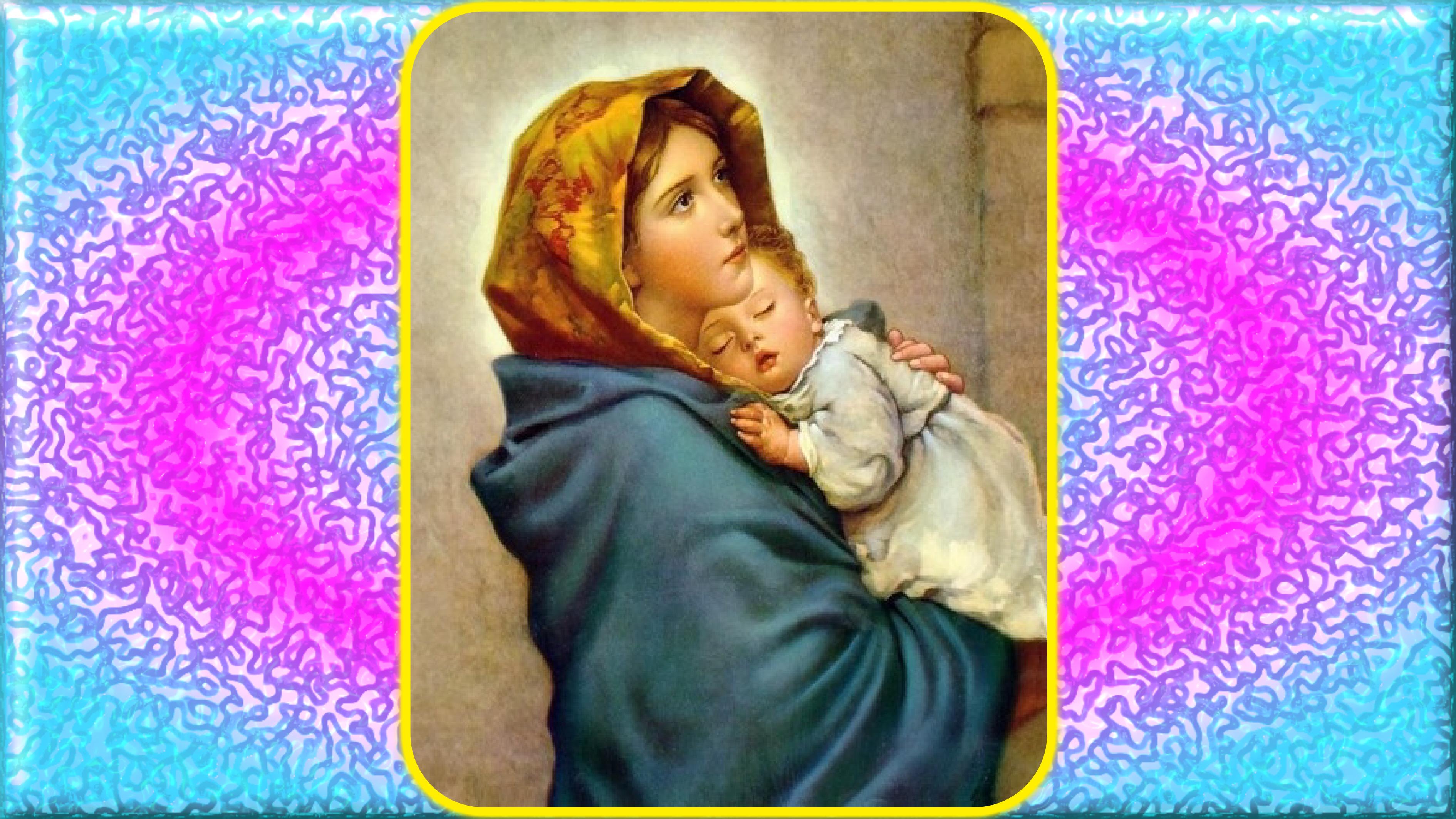 CALENDRIER CATHOLIQUE 2020 (Cantiques, Prières & Images) - Page 3 Marie-l-enfant-j-sus-56faea5