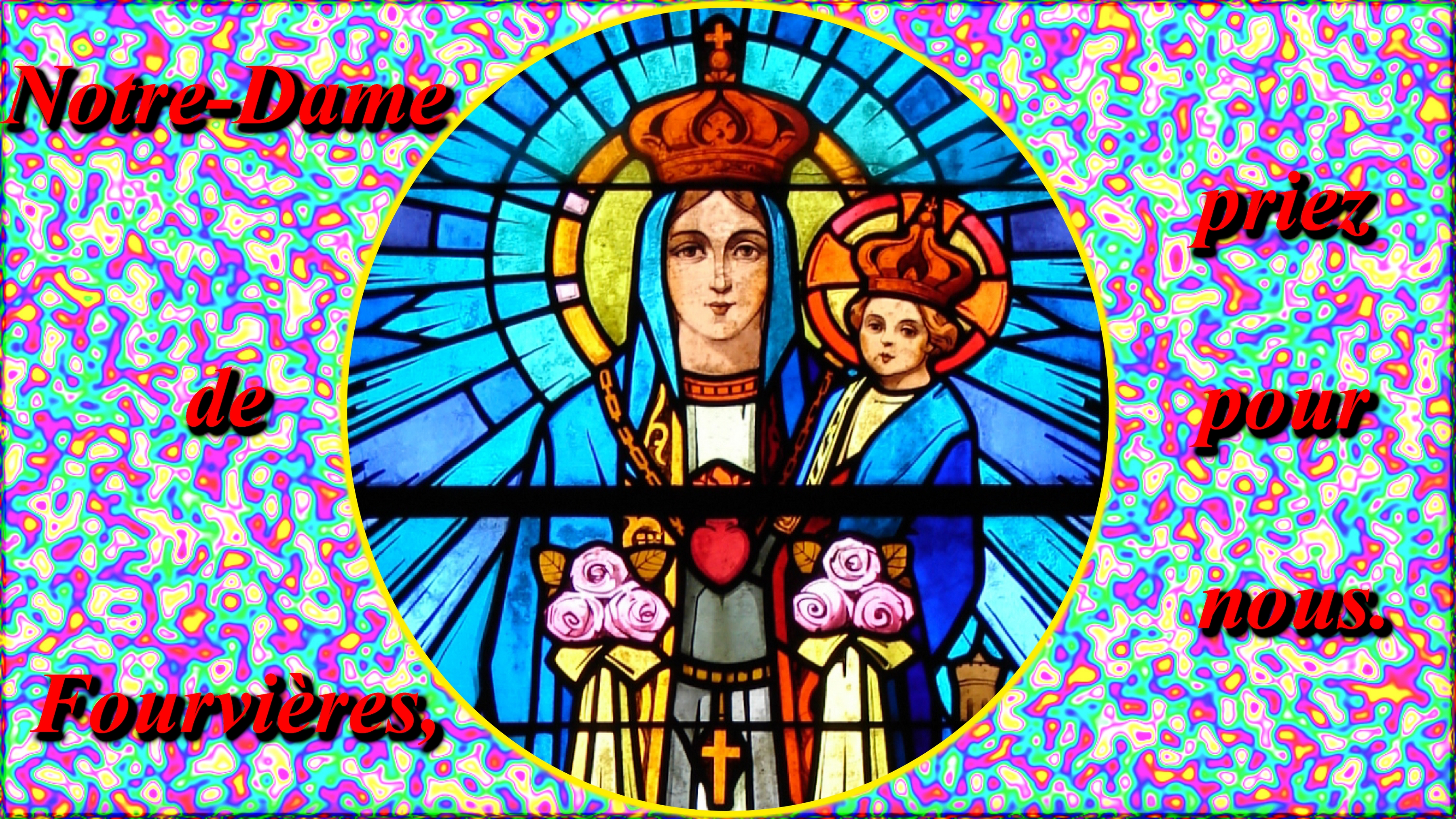 CALENDRIER CATHOLIQUE 2020 (Cantiques, Prières & Images) - Page 12 Notre-dame-de-fourvi-res-574c427