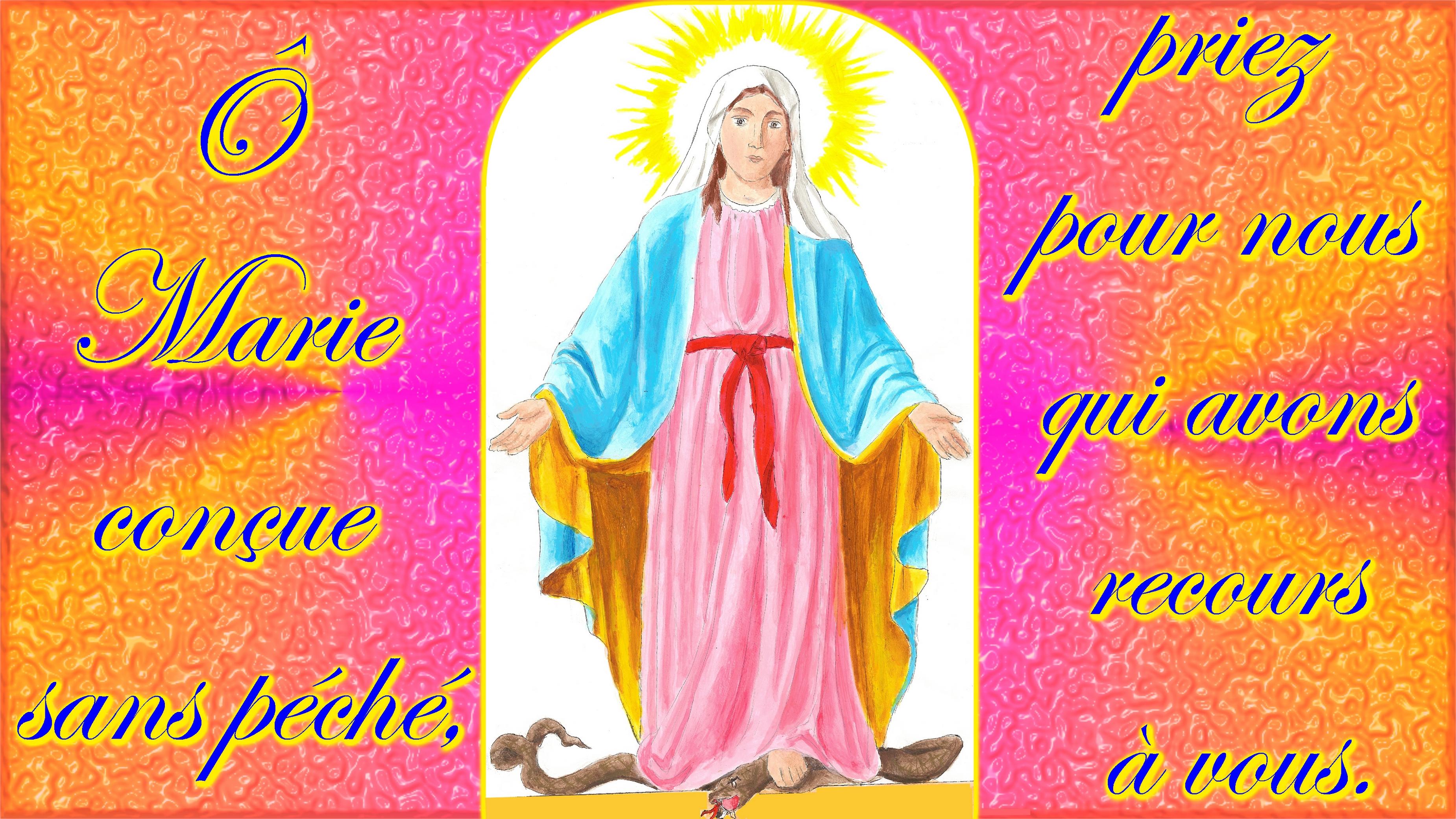 CALENDRIER CATHOLIQUE 2019 (Cantiques, Prières & Images) - Page 17 L-immacul-e-conception-2--56d5fb9