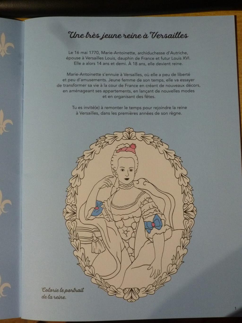 Un cahier d'activités Marie-Antoinette! Par les éditions du Patrimoine. P1070144-56c9722