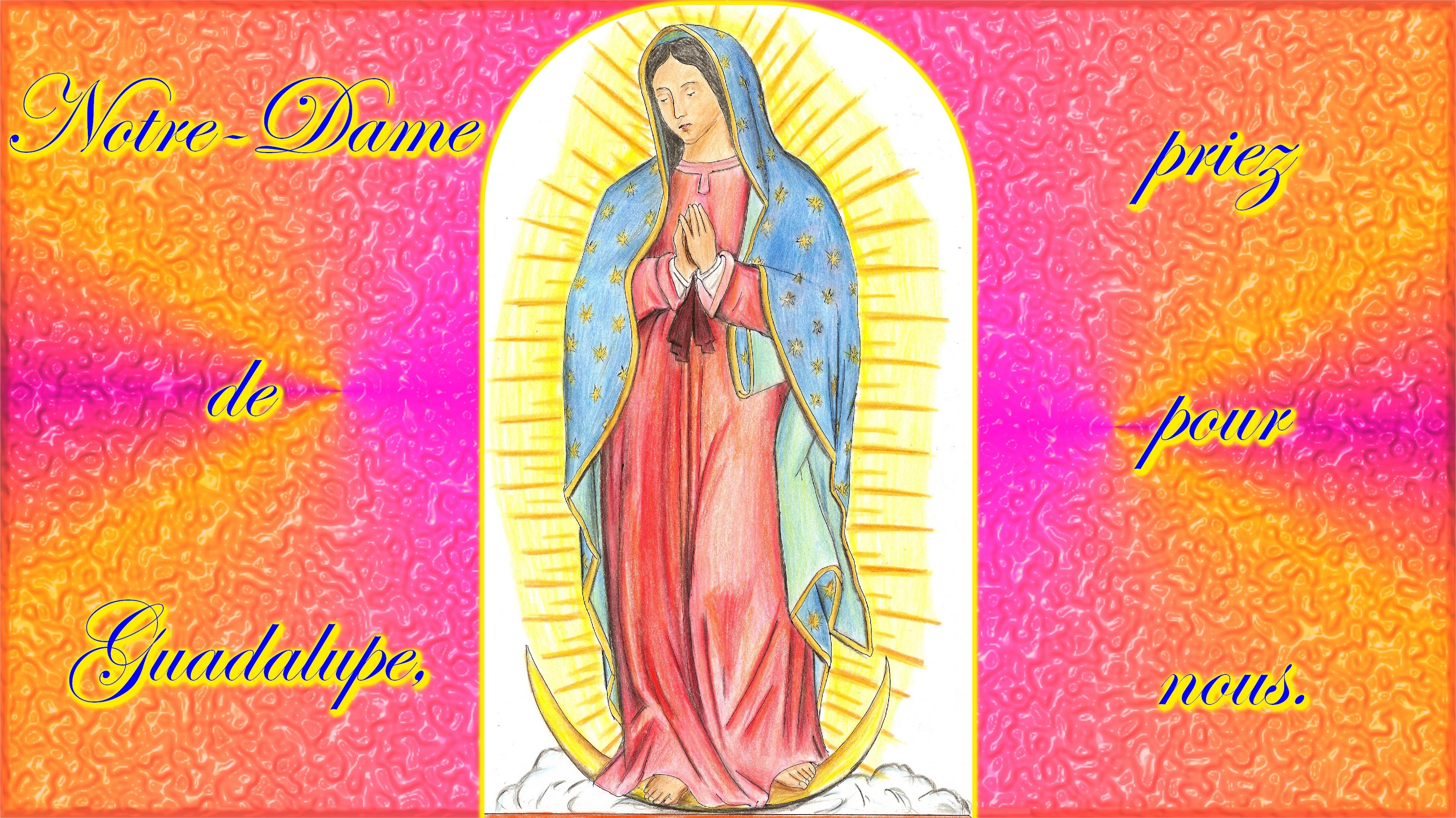 CALENDRIER CATHOLIQUE 2019 (Cantiques, Prières & Images) - Page 18 Notre-dame-de-guadalupe-56da78d