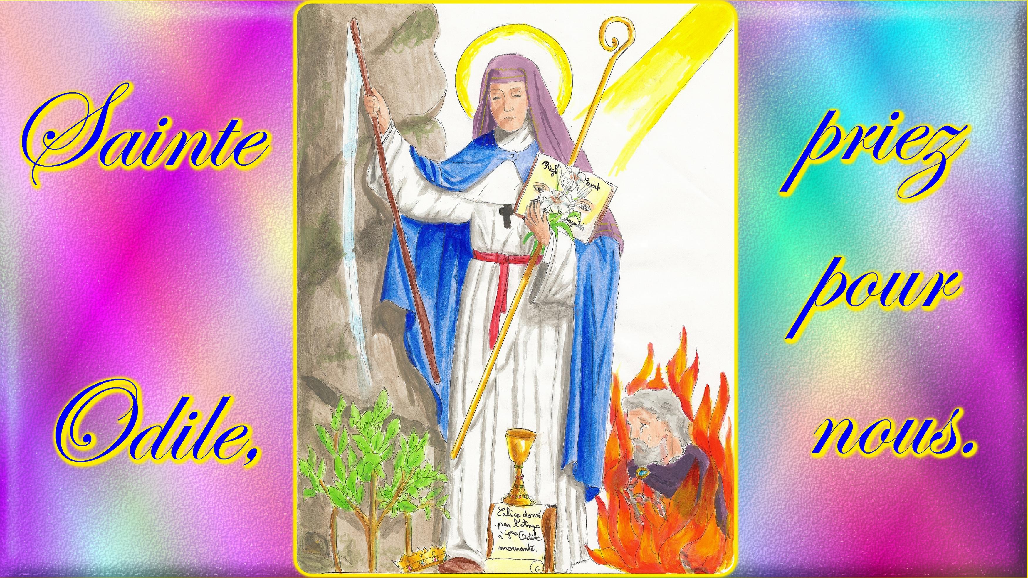 CALENDRIER CATHOLIQUE 2019 (Cantiques, Prières & Images) - Page 18 Ste-odile-56db2aa