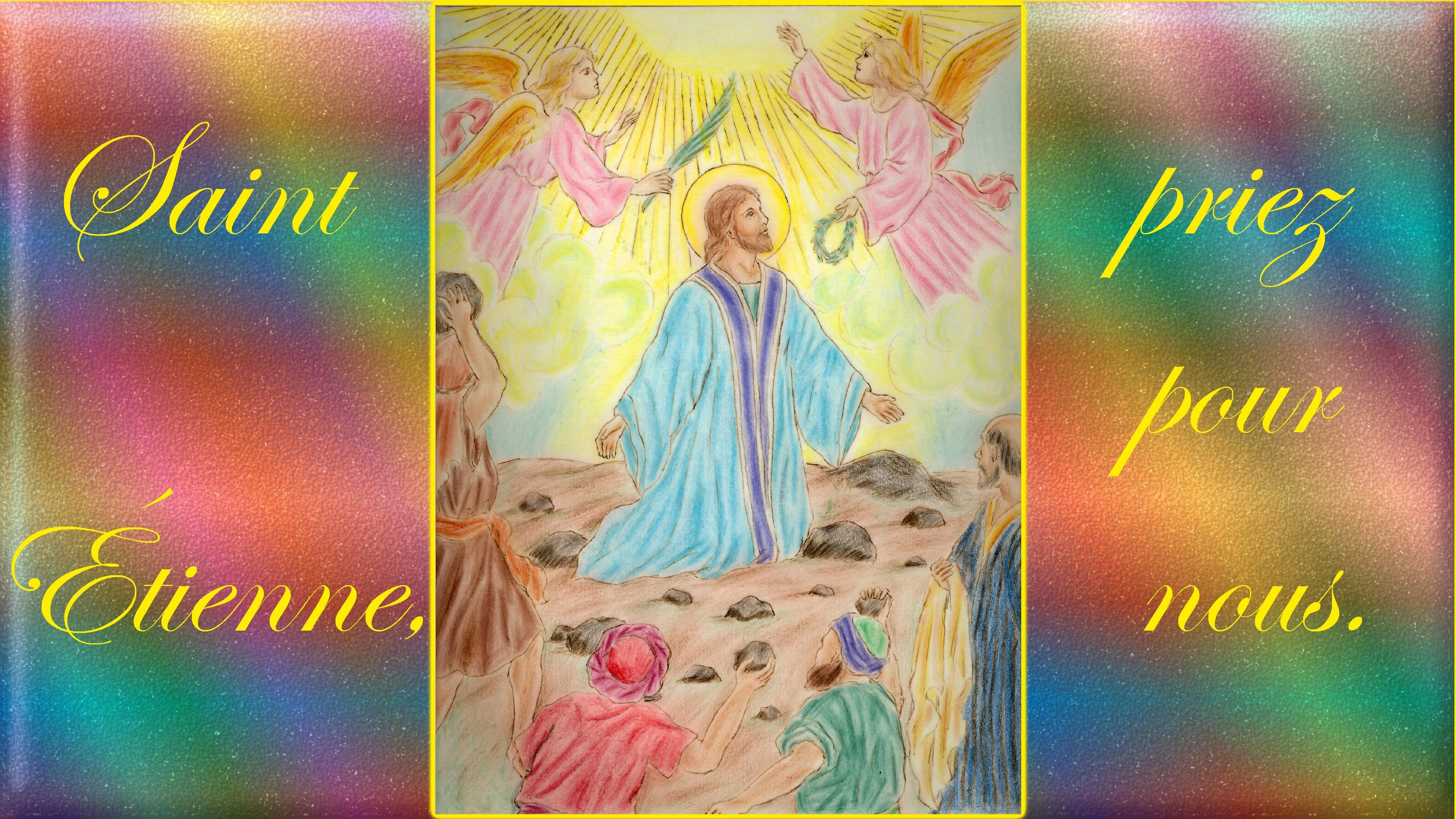 CALENDRIER CATHOLIQUE 2019 (Cantiques, Prières & Images) - Page 19 St-tienne-56e4b4d
