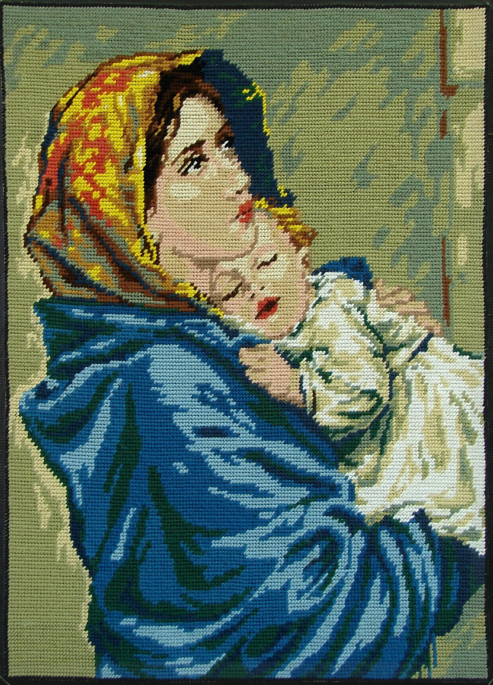 CALENDRIER CATHOLIQUE 2019 (Cantiques, Prières & Images) - Page 19 Vierge-l-enfant-canevas--56e1a6c