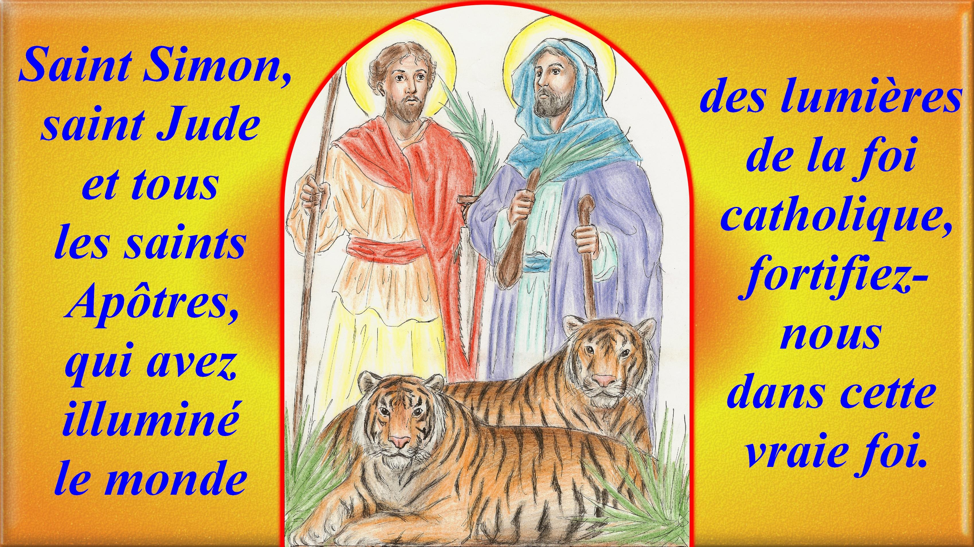 CALENDRIER CATHOLIQUE 2019 (Cantiques, Prières & Images) - Page 13 St-simon-st-jude-56b5087