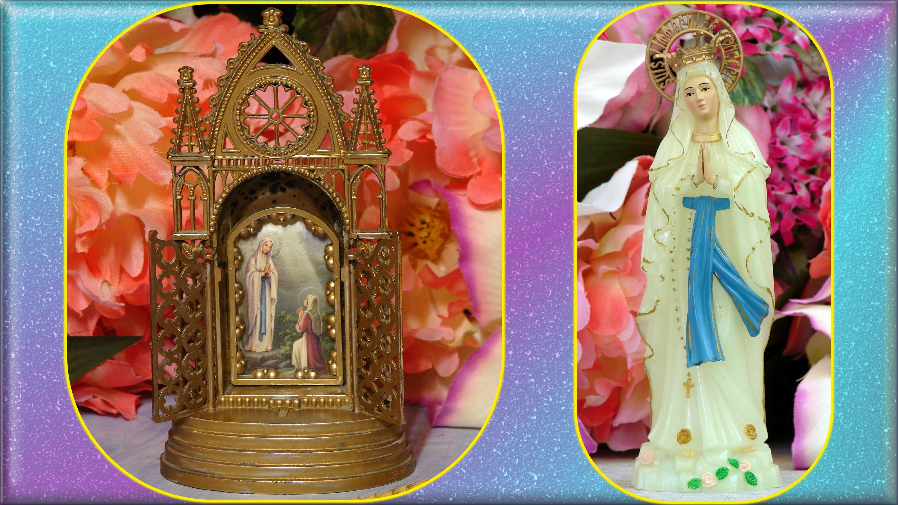CALENDRIER CATHOLIQUE 2020 (Cantiques, Prières & Images) - Page 4 Souvenirs-de-lourdes-57030fb