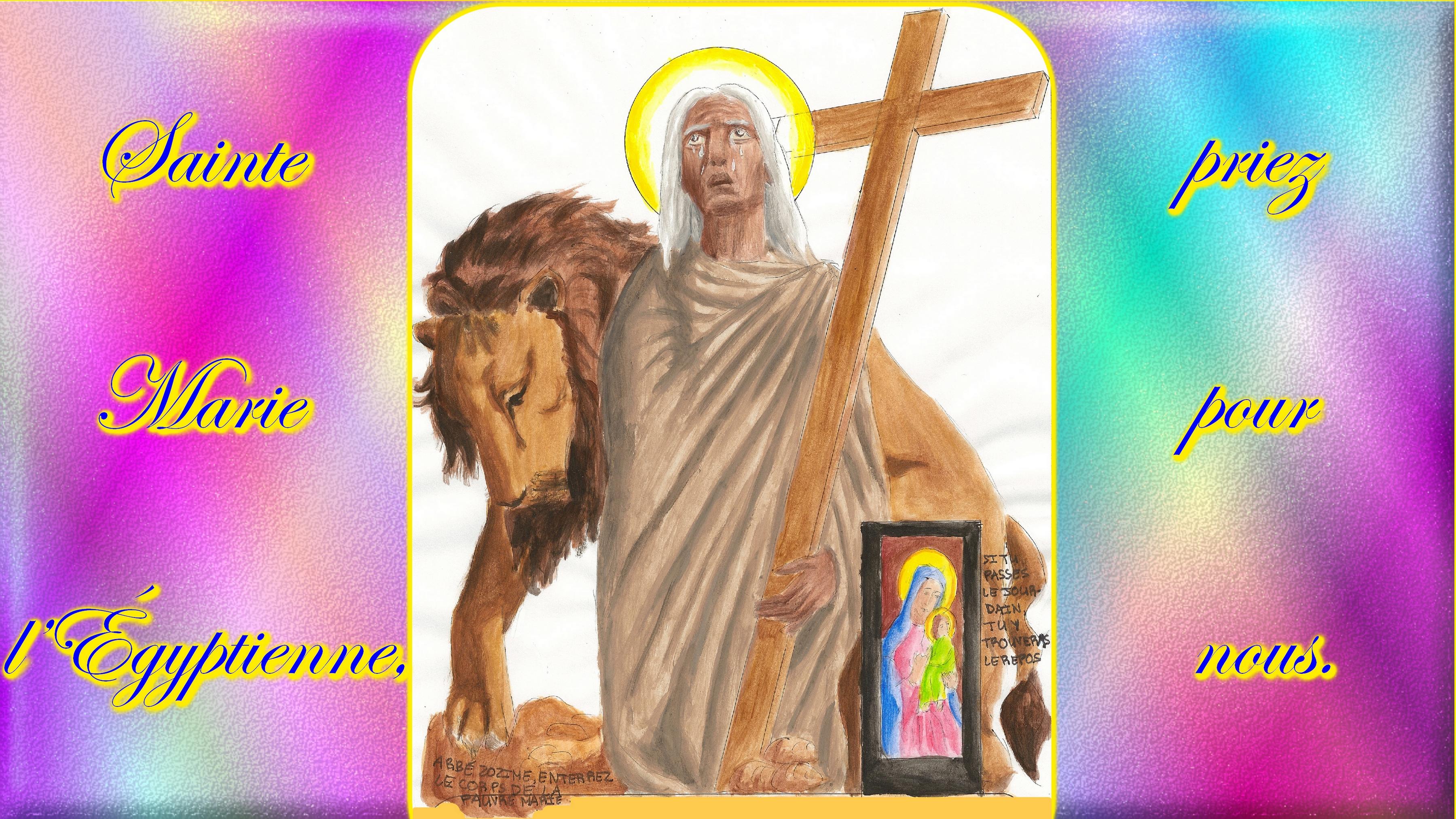 CALENDRIER CATHOLIQUE 2020 (Cantiques, Prières & Images) - Page 10 Ste-marie-l-gyptienne-5734358