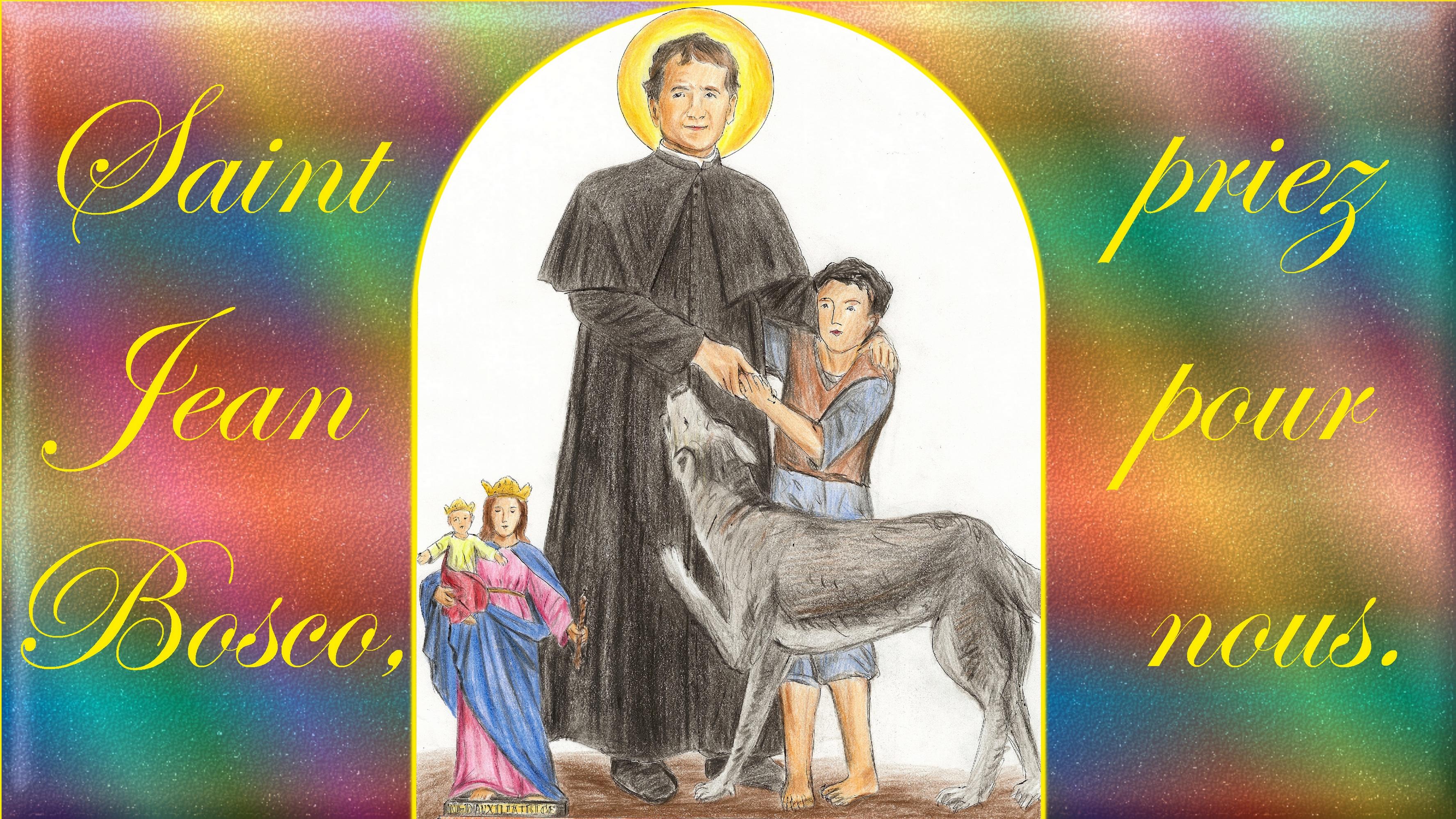 CALENDRIER CATHOLIQUE 2020 (Cantiques, Prières & Images) - Page 4 St-jean-bosco-570054d