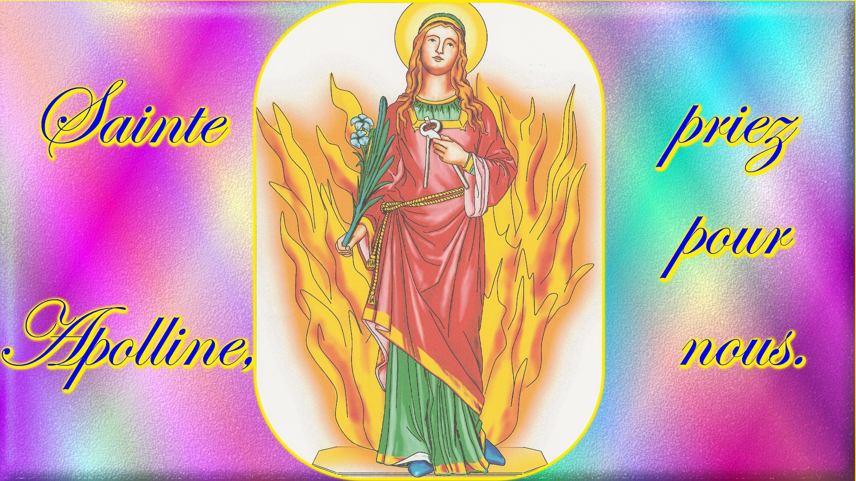 CALENDRIER CATHOLIQUE 2020 (Cantiques, Prières & Images) - Page 4 Ste-apolline-57084c7