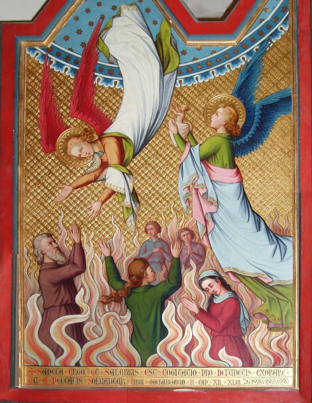 CALENDRIER CATHOLIQUE 2019 (Cantiques, Prières & Images) - Page 14 Le-purgatoire-56be5e0