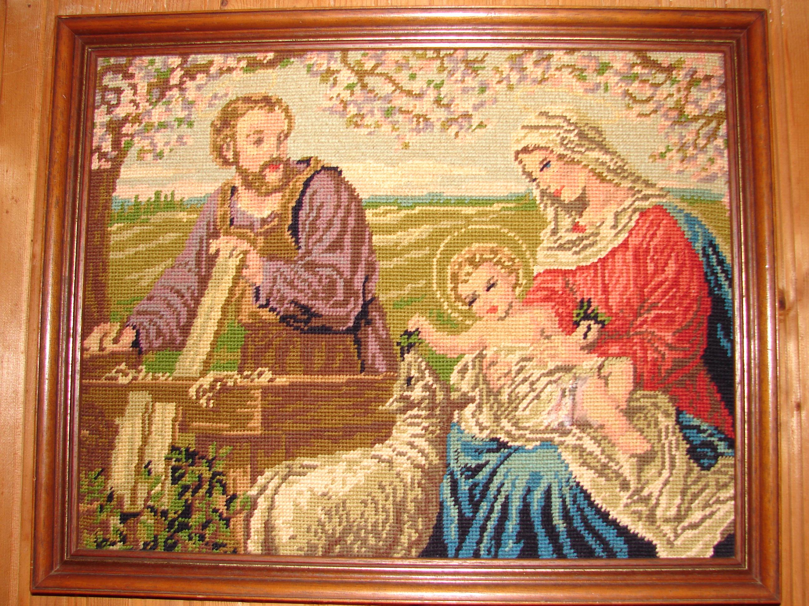 Le MOIS de SAINT JOSEPH par le R.P. Pedini (1854) Canevas-de-la-ste-famille-571f628