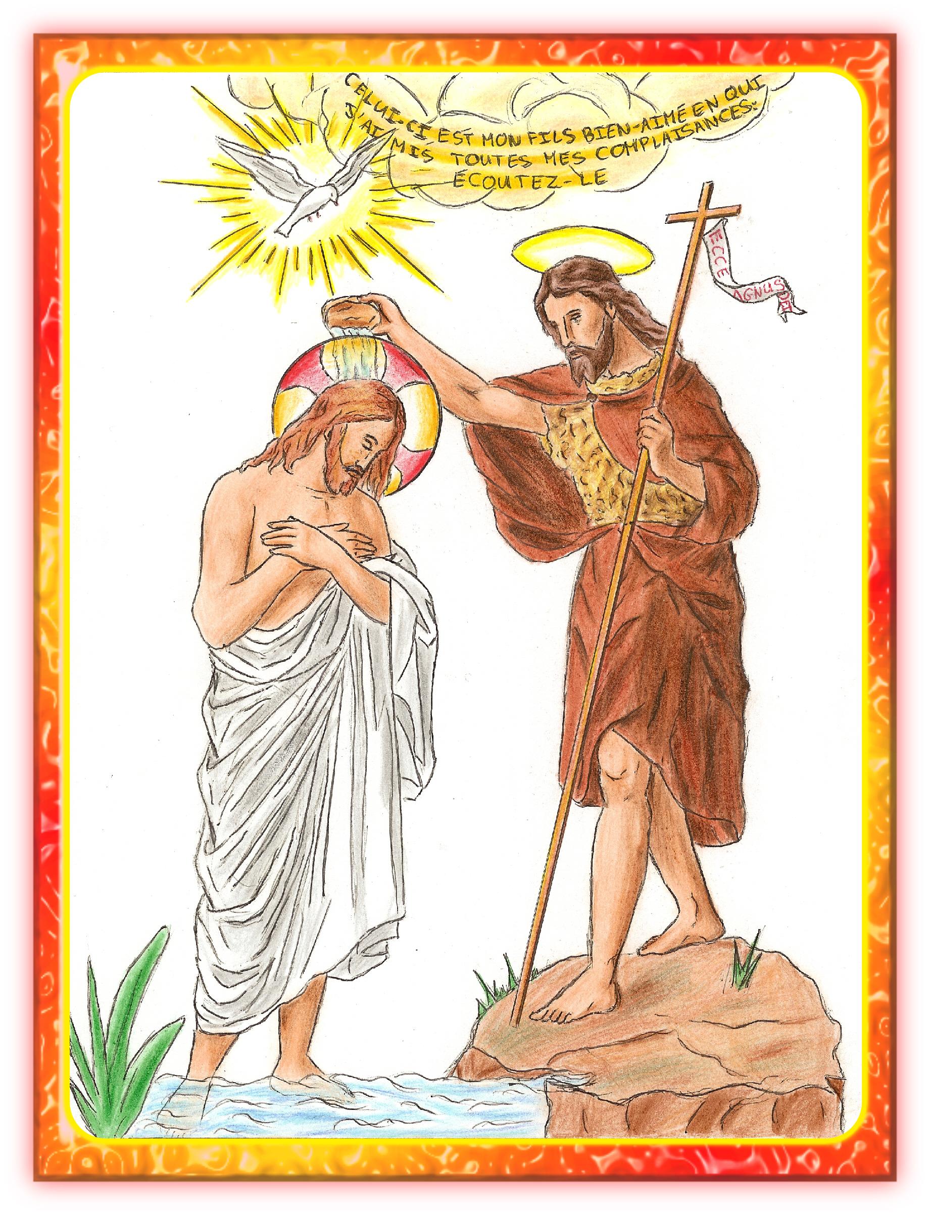 CALENDRIER CATHOLIQUE 2020 (Cantiques, Prières & Images) - Page 2 Le-bapt-me-de-notre-seigneur-56f2d10