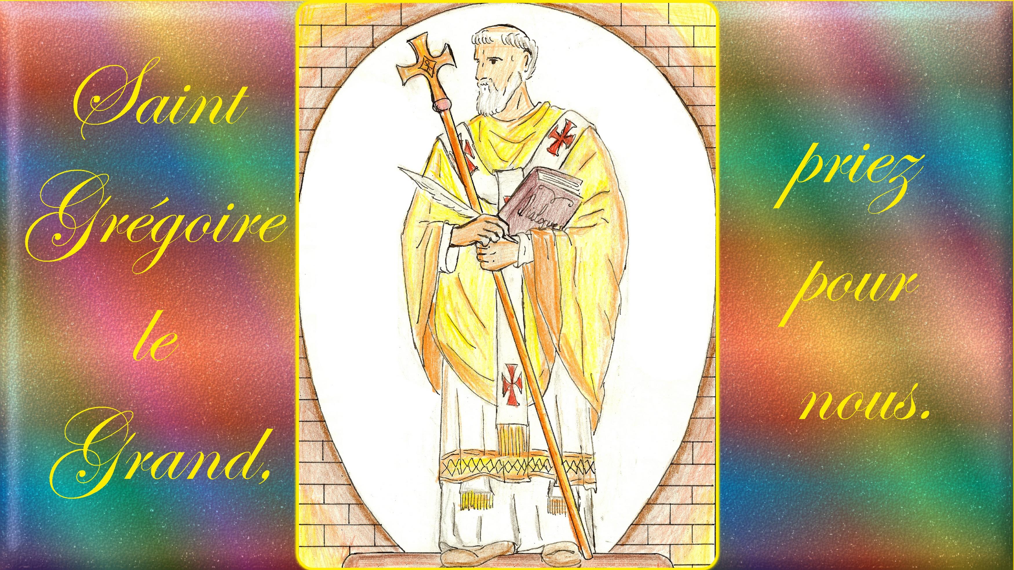 CALENDRIER CATHOLIQUE 2020 (Cantiques, Prières & Images) - Page 8 St-gr-goire-le-grand-572124e
