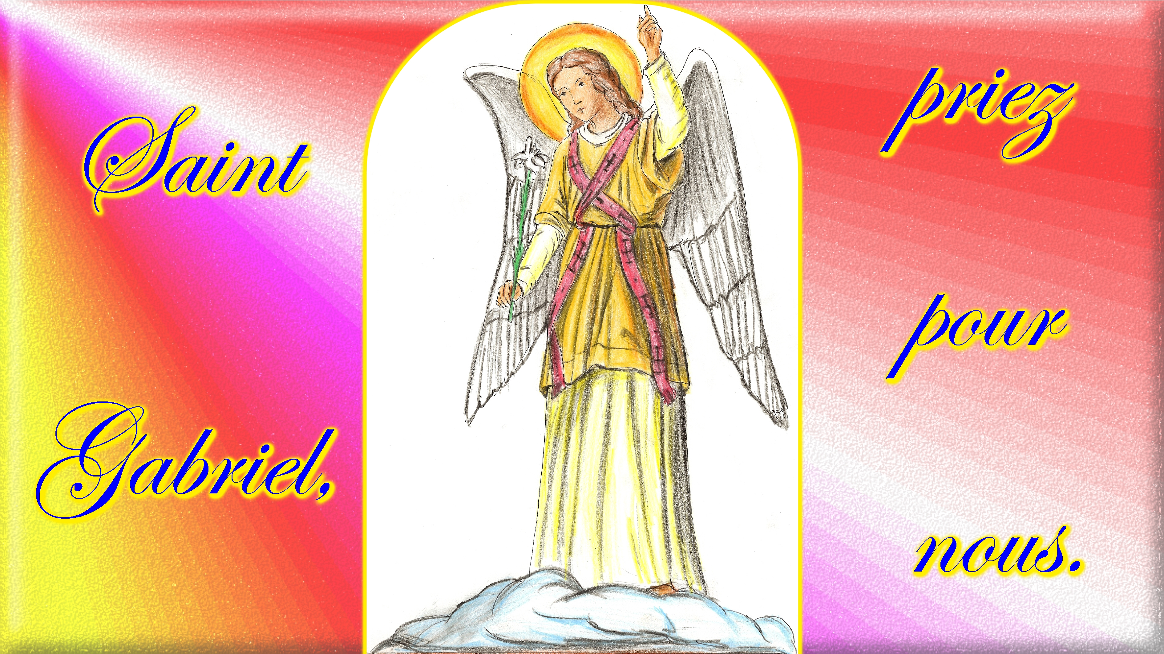 CALENDRIER CATHOLIQUE 2020 (Cantiques, Prières & Images) - Page 9 St-gabriel-572b4e9