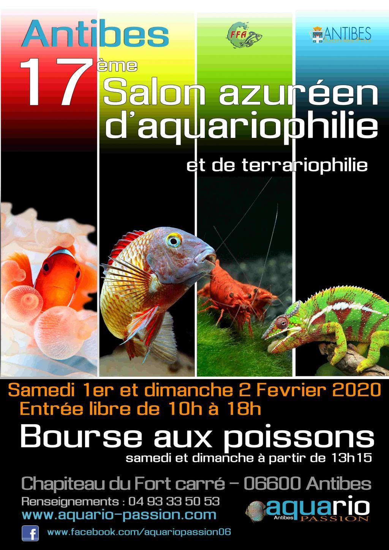 17éme salon de l'aquariophilie et terrariophilie d'Antibes (06) Affiche-2020-compress-e-56ec177