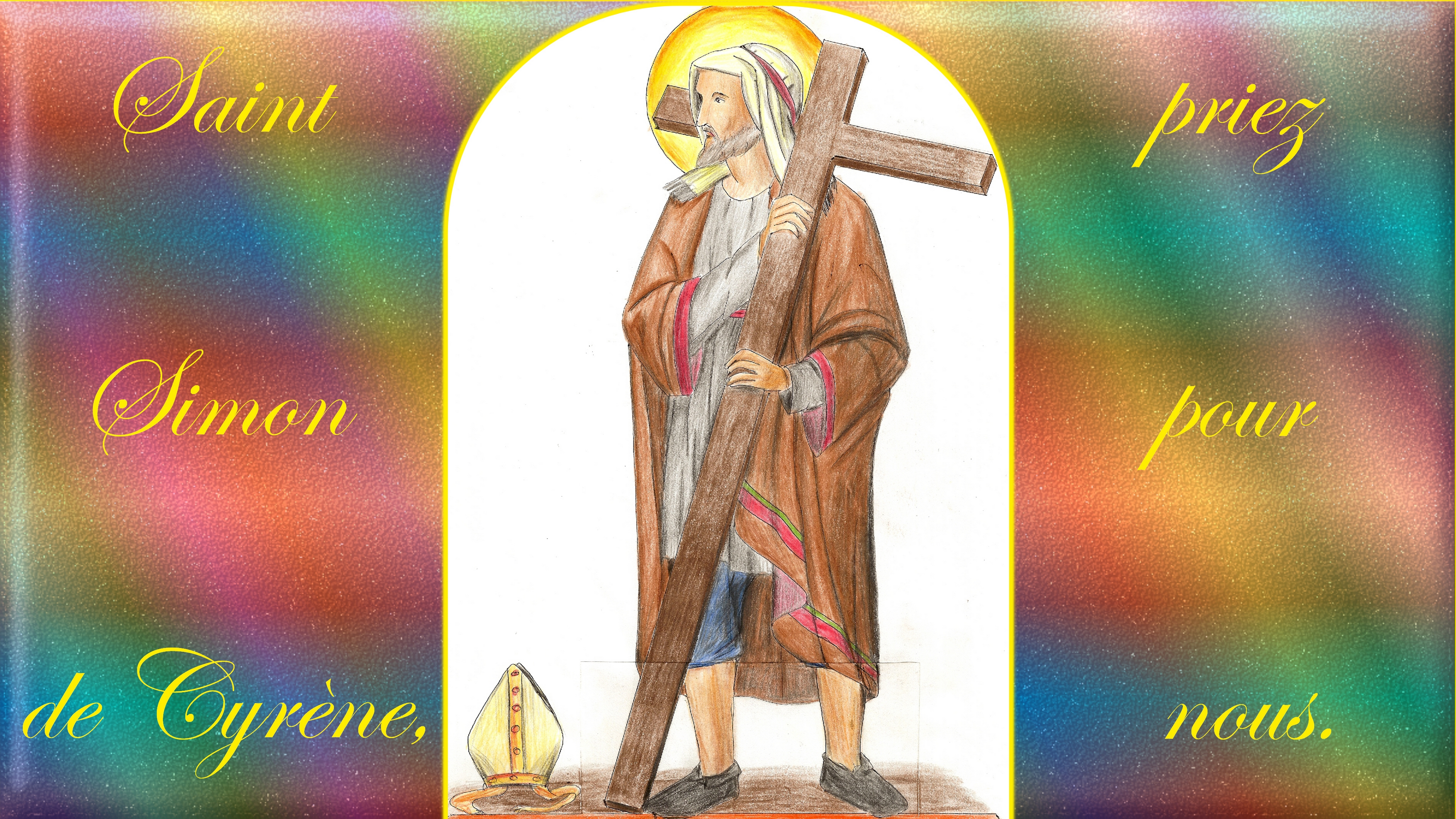 CALENDRIER CATHOLIQUE 2019 (Cantiques, Prières & Images) - Page 16 St-simon-de-cyr-ne-56d104e