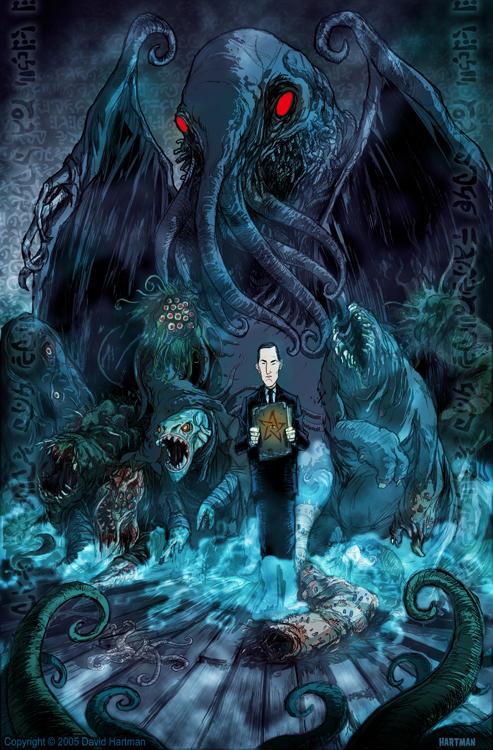 Maratona Mythos: Fim do ciclo Lovecraft. Lovecraft_by_hartman_by_sideshowmonkey