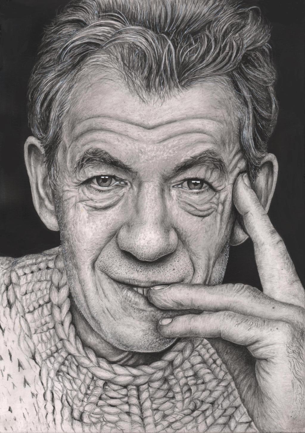 Portreti .. - Page 2 _ian_mckellen__graphite_portrait_by_pen_tacular_artist-d63vasf