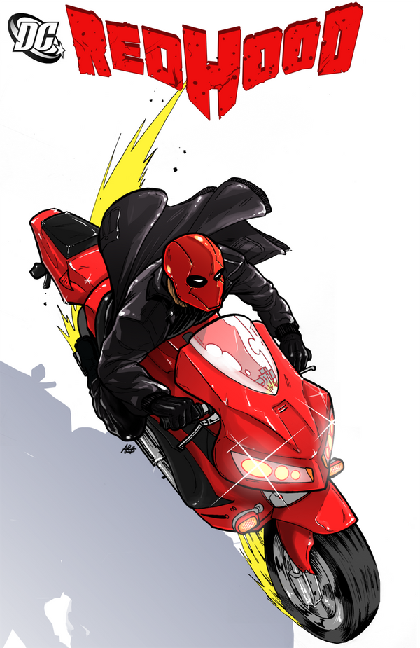 Rencontre pacifiste ? Red_hood__motorcycle__color_by_pikapikaichigo-d3bpihq