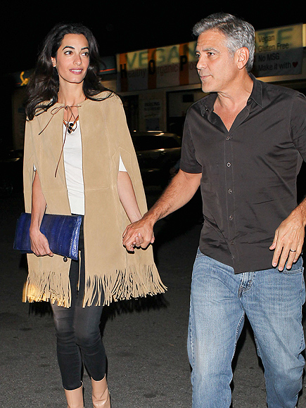 George and Amal Clooney Their First Valentine's Day George-clooney-435
