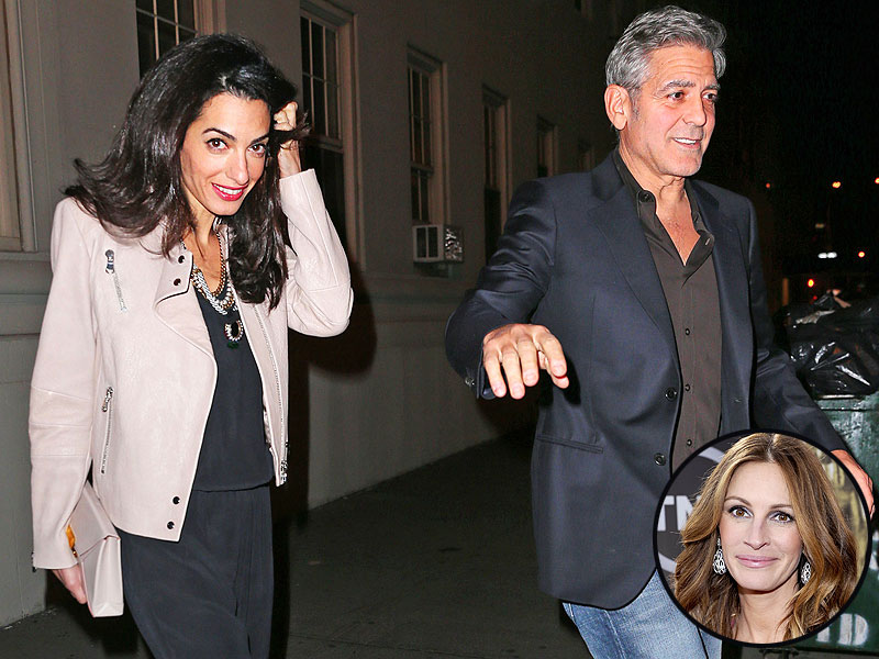 George and Amal having dinner with Julia Roberts April 20, 2015 George-clooney-1-800