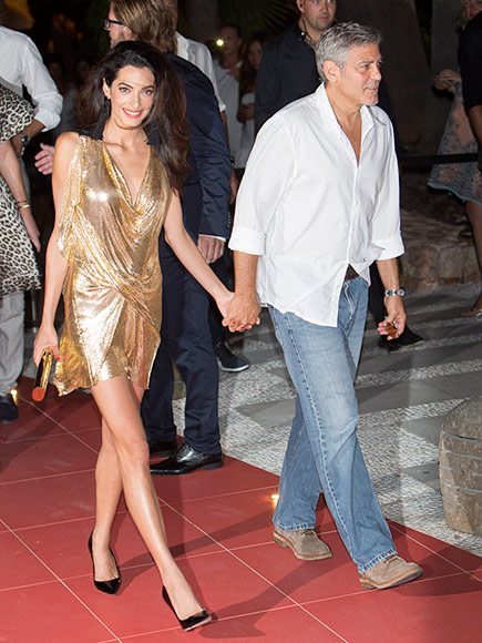 George & Amal Clooney, the Gerbers at the Ibiza launch of their Casamigos tequila August 23, 2015 Clooney-amal-01-435