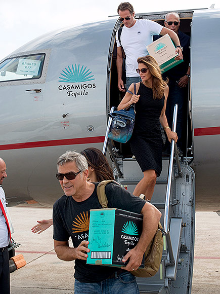 George & Amal Clooney, the Gerbers at the Ibiza launch of their Casamigos tequila August 23, 2015 George-amal-435