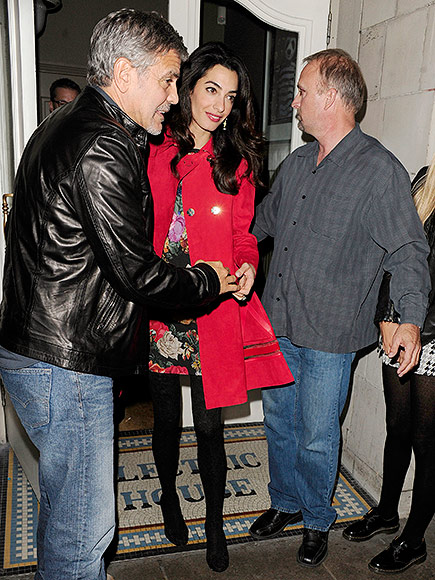 Triple date! George and Amal Clooney enjoy dinner with famous friends Matt Damon, Cindy Crawford and their significant others Oct 3, 2015 George-clooney-435