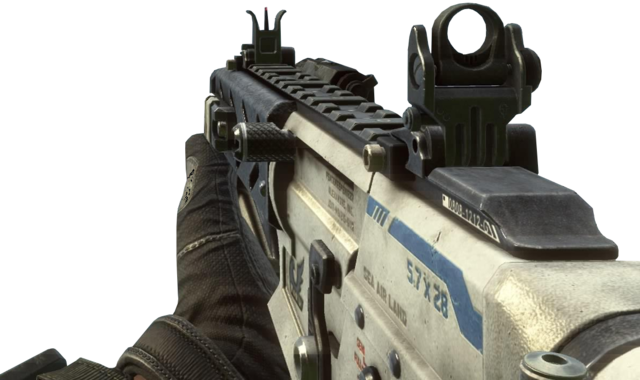 Name a gun from a game that would be cool to see in FNV 640px-Peacekeeper_Laser_Sight_BOII