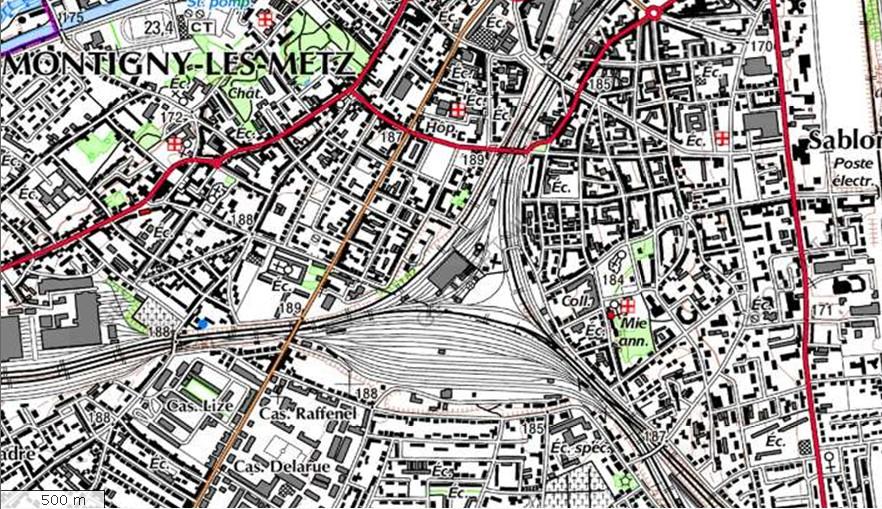 Metz-Sablon, vu de l'extérieur Plan-sablon-116d676