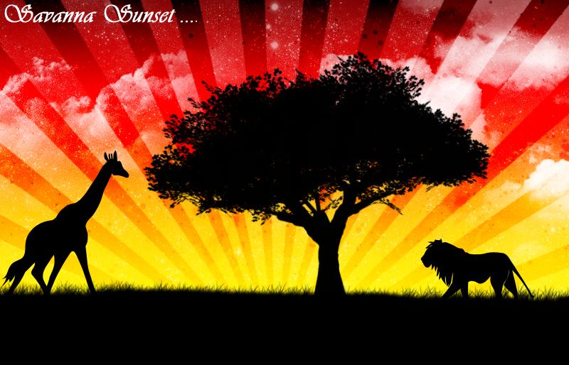 .: LineBenji's Arts :. Savanna-sunset-2-16e511e