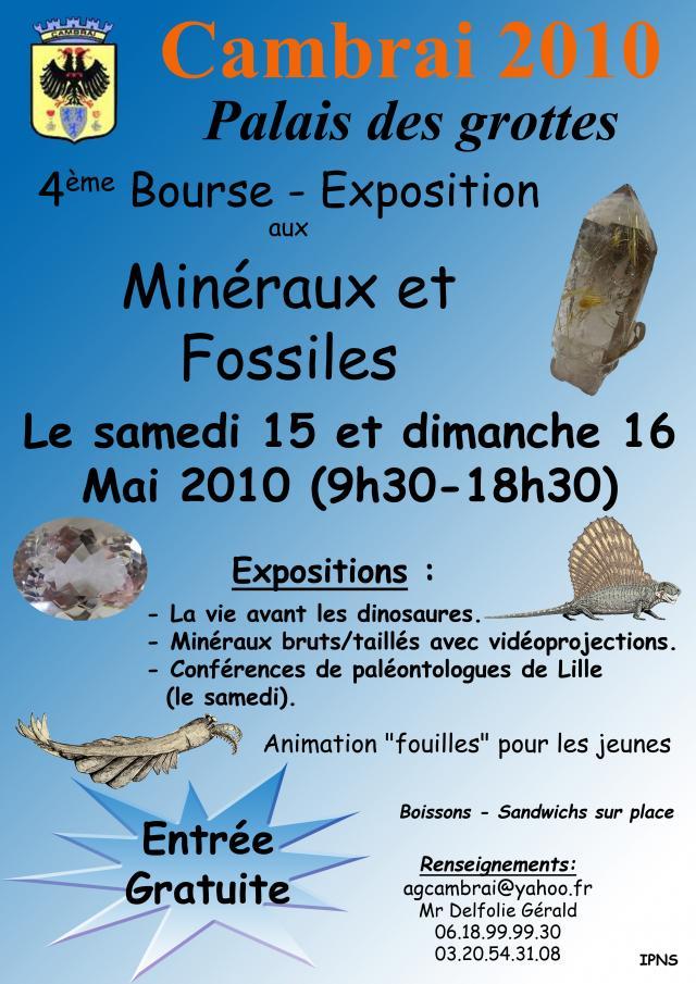 Bourse minéraux et fossiles Cambrai- 15 & 16 mai 2010 Affiche-2010-1b53365