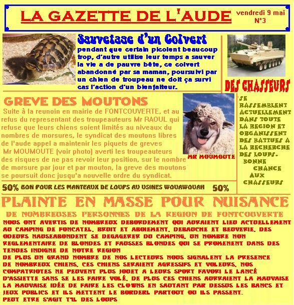 Nos bêtes à poils, plumes, écailles, branchies... ^^ - Page 3 Lagazette3-32c5cf