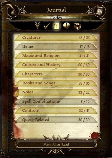 Codex / Journal RPG Maker MV Codex
