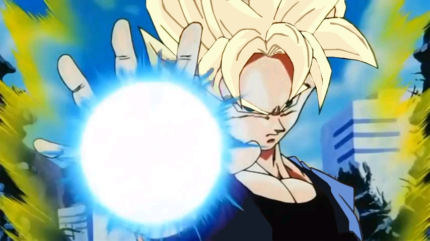 Avec Carla Bruni, dites non à l'intimidation ( fou rire garanti) - Page 2 Goku_Jr._One_Armed_Kamehameha