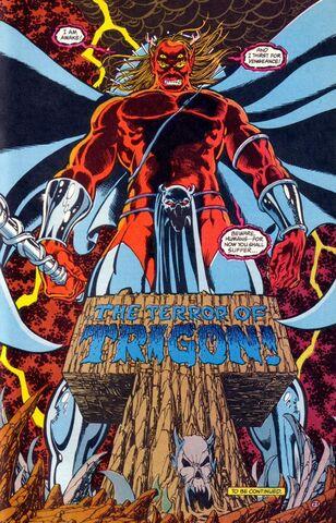 Tournoi des Personnages Préférés DC Comics (on vote pour nos persos préférés, on ne se base pas sur la force) - Page 5 308px-Trigon_0003