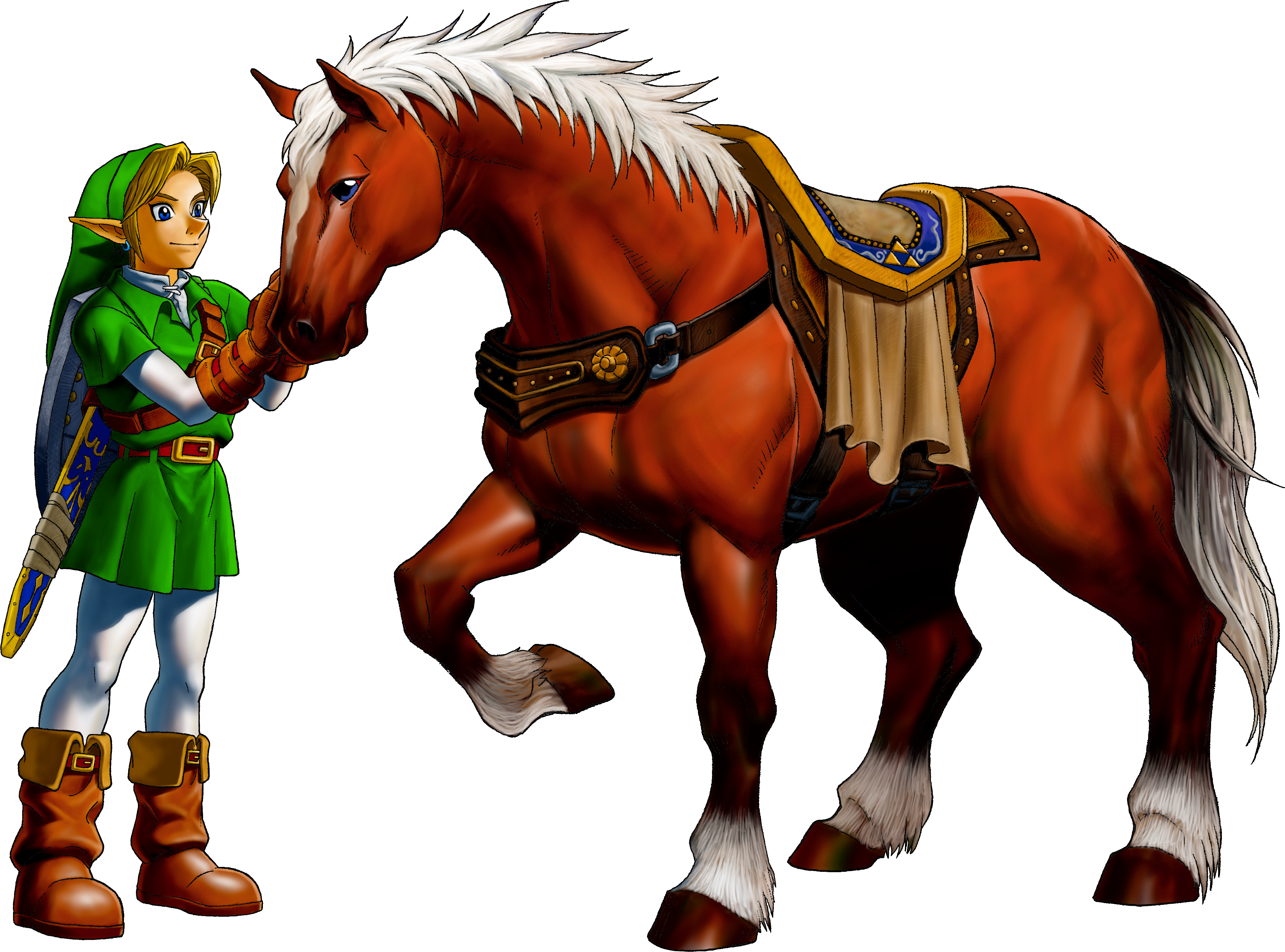 Zelda Majora Mask Link_and_Epona_(Ocarina_of_Time)