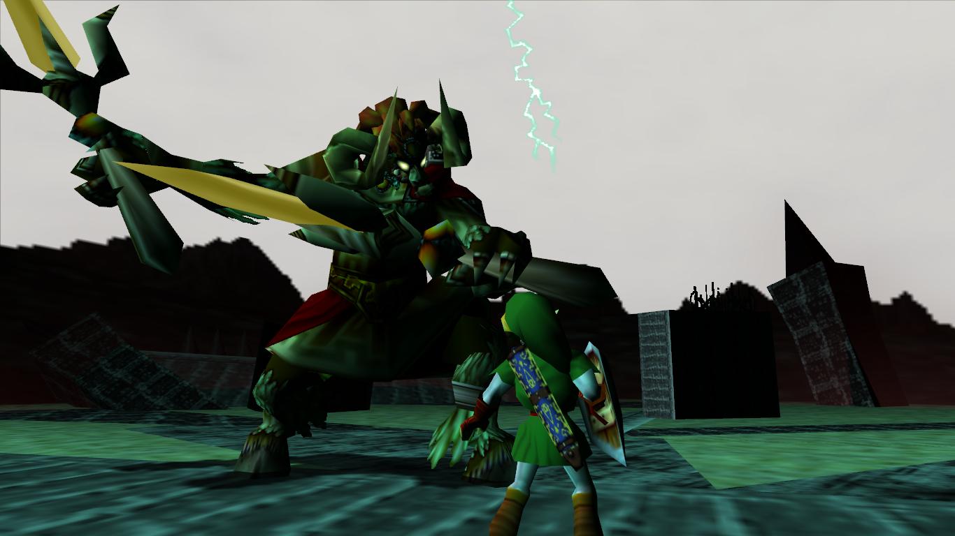 Enemigos/jefes de videojuegos que odias Link_vs._Ganon_(Ocarina_of_Time)