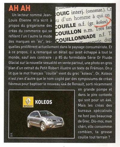 Renault Cou*** oups, Koléos... Fluide_glacial-9c7d46