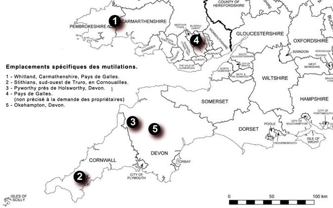 Suspicion de mutilation classique en Grande Bretagne Carte-3134219