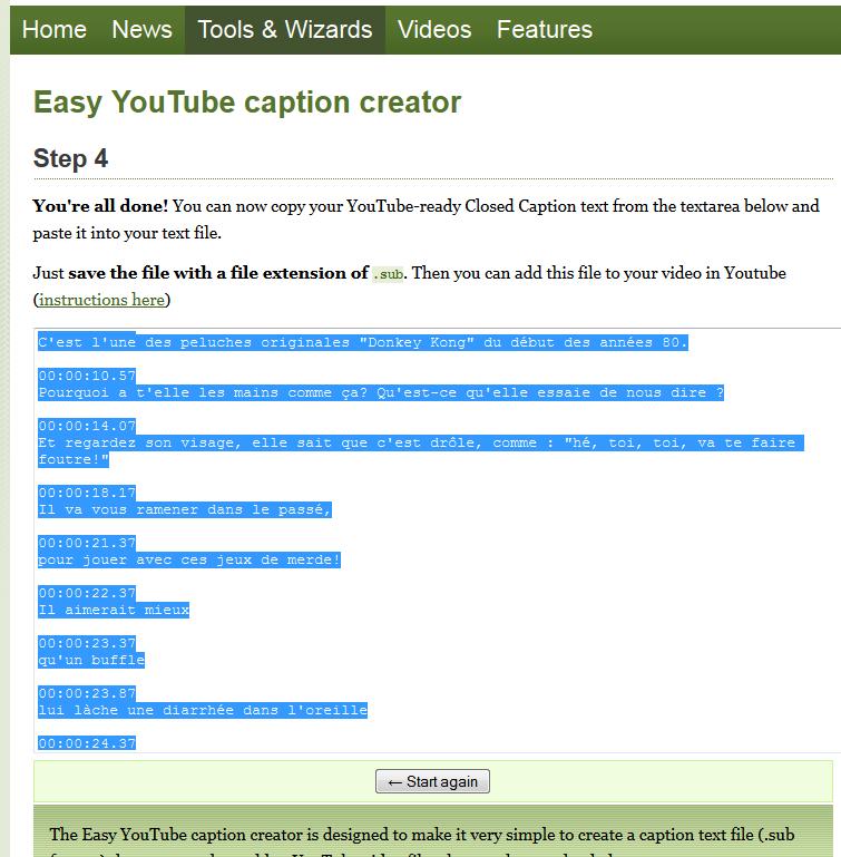 """(Sous-titrage en """"Closed Captions"""" sur Youtube) Ma méthode de sous titrage  Tuto15-3abeb24"""