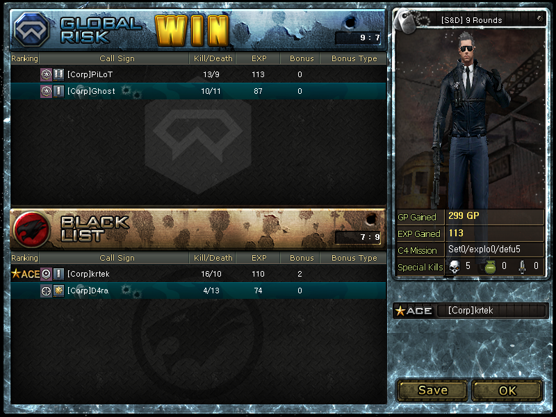 Screeny z turnajů Crossfara