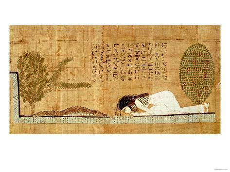 Papiros funerarios .IMAGENES - Página 2 Funerary-papyrus-depicting-the-deceased-prostrate-in-front-of-the-crocodile-papyrus